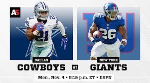 Dallas Cowboys At T Stadium Seating Chart Monday Night Football Dallas Cowboys Vs New York Giants