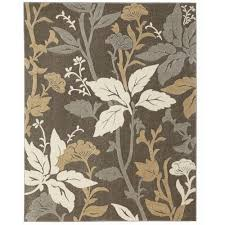 blooming flowers gray 9 ft x 13 ft area rug