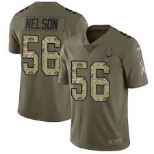 To - Indianapolis Jersey camo Limited Colts Quenton Service Salute 2017 Football Olive 56 Nelson Men's