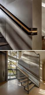 Stair Design Idea - 9 Examples Of Built-In Handrails