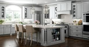 grey kitchen cabinets recessed light with white countertops