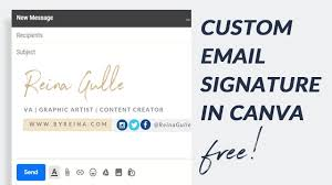 Email Signature How To Create Email Signature In Canva For Free Gmail Signature