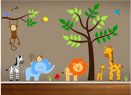 jungle wall decals for nursery zoom monkey wall decals for nursery