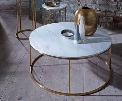 space modern kensal round coffee table in various finishes