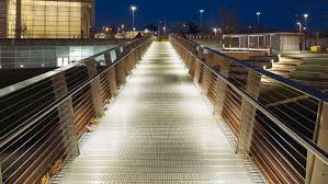 Lighting pic Bar Lumiance Lumistrip Illumates The Walkway Providing Safe Passage For Pedestrians Eci Lighting Dublin Port