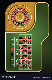 roulette table layout vector image