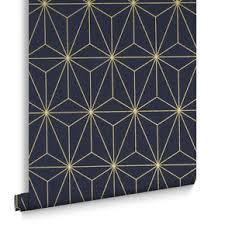 prism navy gold wallpaper  on gold art deco wallpaper uk with living room wallpaper feature wall wallpaper graham brown