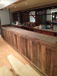 Bar Made Out Of Pallets My Girlfriend Is Opening A Cafe She Made This Bar Out Of Old