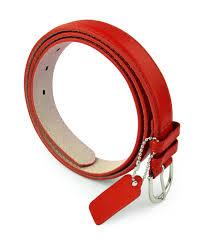 belle donne womens leather belt solid color basic pu bonded leather dress belt silver polished belt buckle by belle donne red medium com
