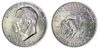 1971 D Eisenhower Dollar Type 1 Friendly Eagle Accented