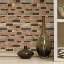 Stick On Backsplash For Kitchen Roommates Modern Long Stone Sticktiles 4 Pack 105 X 105