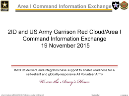 2id And Us Army Garrison Red Cloud Area I Command