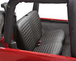 bestop bestop rear seat bench cover for 97 02 jeep wrangler tj