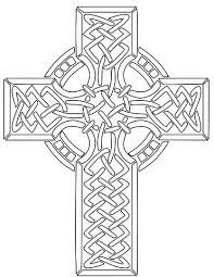 Cross Coloring Pages Easter Pdf Ilovezclub