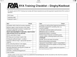 Rya Dinghy Yacht Training Checklist Costa Blanca Yacht
