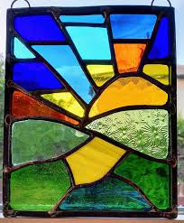 a small stained glass panel