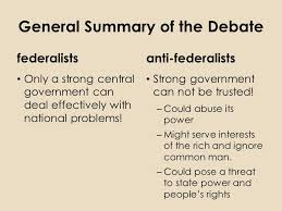 Ratifying The Constitution Federalists Vs Antifederalists