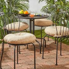 charming bistro chair cushions for your bistro chair decor round bistro chair cushions beige finish