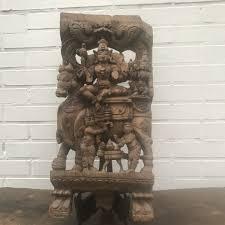 wood carved panel 1 shiva