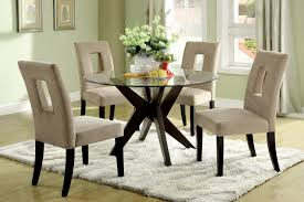 Glass Top Modern Pc Dining Set Room Oval Table Country Bathroom