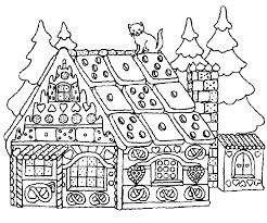 Merry Christmas House Coloring Pages For Kids Coloring Point