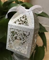 <b>50pcs</b> Glitter Silver <b>Laser</b> cut wedding favor boxes,Wedding gift ...