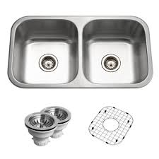 belleo series drop in 32 in stainless steel double bowl kitchen sink