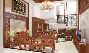 Cách bố trí bàn ghế gỗ trong phòng khách - CafeLand.Vn