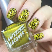 Danger High Voltage Electric Nail Art with Superchic Lacquer ...