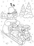 Раскраска русской народной сказки снегурочка