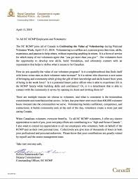 letter for volunteers rcmp thank you letter to all the amazing sccpas volunteers