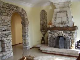 house decorating design ideas with stone indoor fireplace design light yellow wall colored design and stone entrance wall decoration