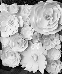 White Paper Flower Wall Paper Flower Wall Click For Prices