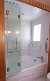 bi fold glass bathtub doors bathtub ideas intended for bi fold doors for bathroom