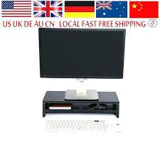 white tv riser riser shelf wood desktop monitor stand laptop rack computer screen riser shelf office