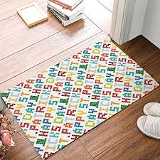 colorful welcome mat. Wonderful Colorful Entrance Welcome Mat Heavy Duty Front Door Colorful Alphabet Home Decor  Non Slip Entryway Rug Inside R