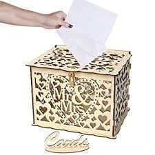 Funpa Card Box Set Wooden <b>DIY Name</b> Card Holder <b>Greeting</b> Card ...