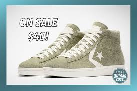 the converse pro leather vintage suede high top is on for 39 97
