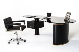 modrest robertson modern black and walnut office desk black and white office furniture