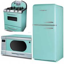 Retro Kitchen Appliance Turquiose Kitchen Appliances With Classy Design And Retro