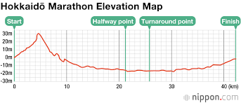 Tokyo Marathon Elevation Chart