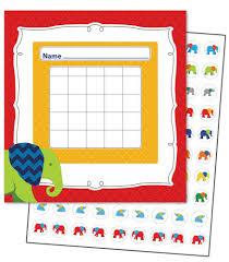 Limited Qty Parade Of Elephants Mini Incentive Charts Id 21670