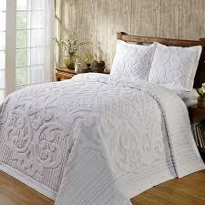 white chenille bedspread. Unique White King Size 100Percent Cotton Chenille Bedspread In White On H