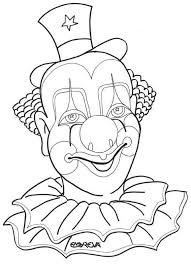 Horror Clown Kleurplaat
