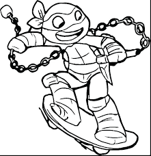 Boy Ice Skater Coloring Page Riding A Skateboard Colouring Sheets