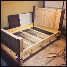 diy king platform bed frame. Diy Full Size Bed Frame Almost Finished Made With 2x4s 2x8s And King Platform