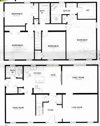 two story residential floor plan luxury two story rectangular house plans house decorations