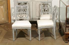set of four swedish neoclical style painted lindome side chairs circa 1920 2