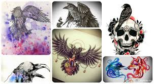 эскиз тату ворон примеры рисунков с вороном для тату