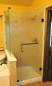 obscure glass shower door enclosure obscure glass oil rubbed bronze hardware and towel bar d handle obscure glass shower door